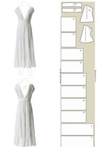 выкройка белого платья