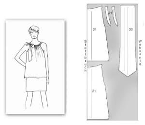 выкр блузы с бантом вверху