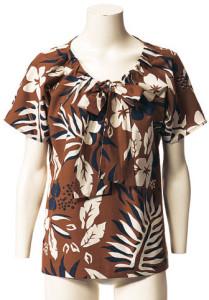 коричневая блуза