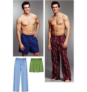 мужские брюки и шорты.