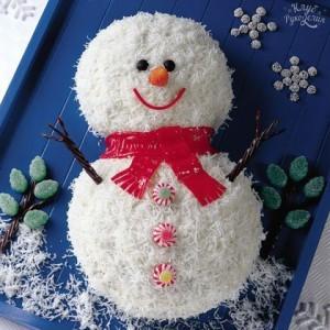 тортик снеговик