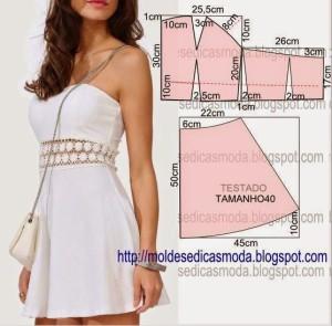 белое платье с кружевной вставкой VESTIDO-FÁCIL2