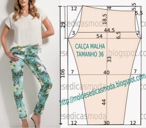 брюки из эластичной ткани CALÇA-FÁCIL