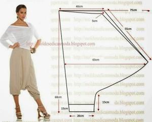 брюки с низкой посадкой без среднего шваCALÇA-SARUEL