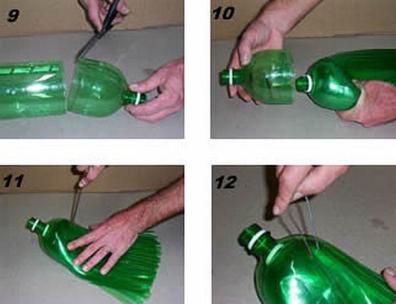 Как сделать веник из пластиковых бутылках