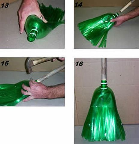 Как из бутылок сделать метелку