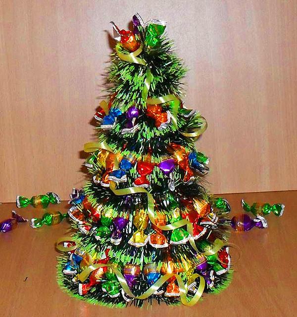 Настольная новогодняя елка своими руками