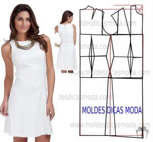 белое простое платье