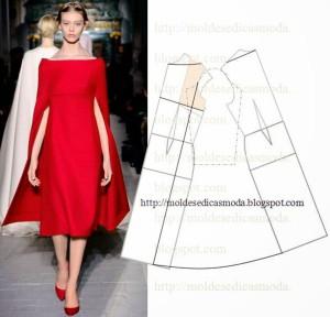 красное платье - накидка