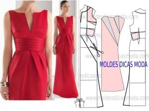 краснок платье с драпировкой