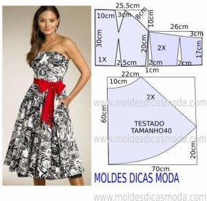 серое платье с красным поясом