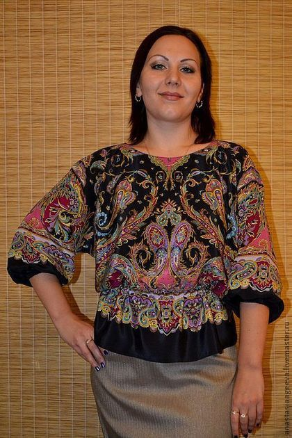 Блуза из платков