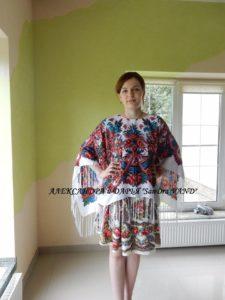накидка и юбка из платков